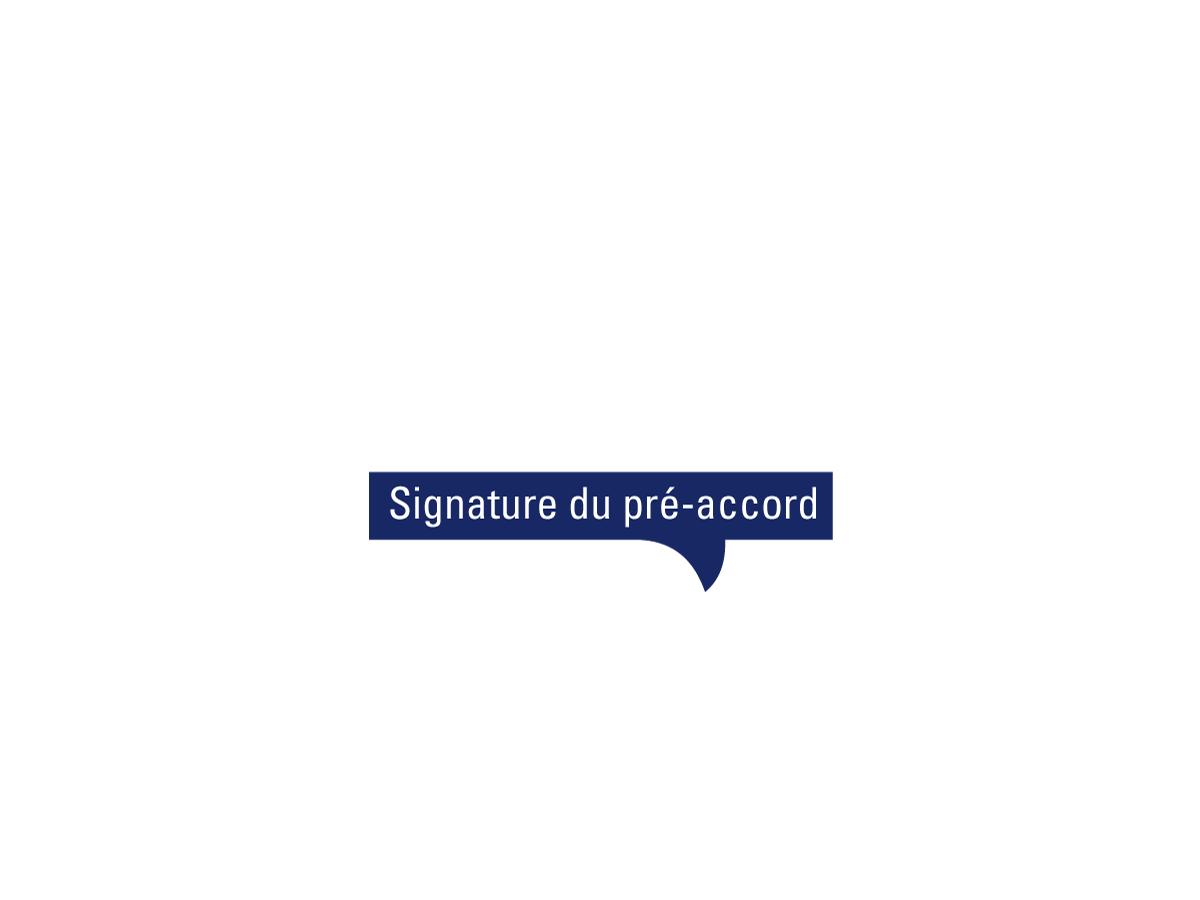 signature du pré accord